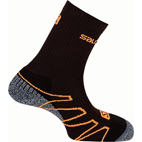Salomon Eskape calzini da escursionismo, black - grey - orange, 36-38