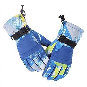 RUNATURE Skihandschuhe mit Tasche für Männer Frauen Damen Jungen Mädchen Kinder, Wasserdichte Winterhandschuhe Warme Schnee Snowboard Ski Handschuhe Sporthandschuhe Vollfingerhandschuhe