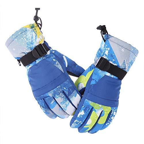 RUNATURE Skihandschuhe mit Tasche für Männer Frauen Damen Jungen Mädchen Kinder, Wasserdichte Winterhandschuhe Warme Schnee Snowboard Ski Handschuhe Sporthandschuhe Vollfingerhandschuhe (Jungen-ski-tasche)