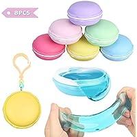 FUNTOK Macarons Slime Kit 8PCS, Fluffy Slime DIY súper Suave y no pegajoso Fluffy Slime Juguete Sensorial Toy Juguete Antiestrés para Niños y Adultos (Macarons Slime)