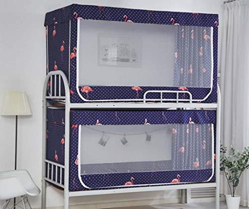 FEFEFEF Mosquitera litera Dormitorio Femenino Doble persianas Altas y Bajas Cama Cortina Cama para niños mosquitera,3,0.9 * 1.9 * 1.1m2