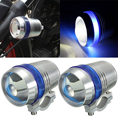 Audew 2x Motorrad LED Scheinwerfer 30W U3 LED helle Scheinwerfer Lampe Spot Leuchte Blau
