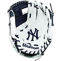Wilson children's A200 Mlb Nyy Team Gloves, Navy/White, Size 10