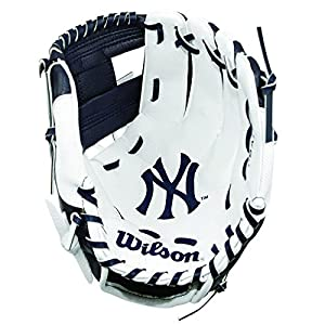 WILSON A200 Tb Handschuhe,  Kinder, Schwarz/ Weiß, 10