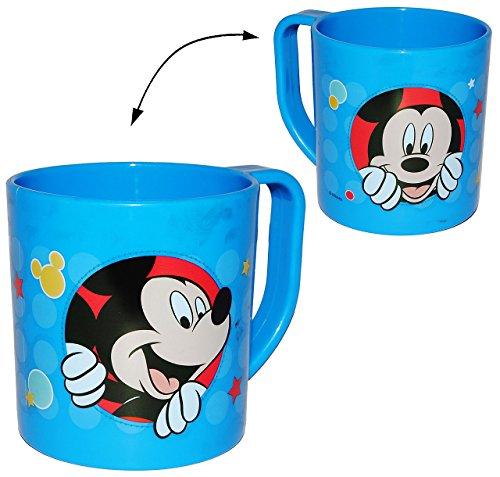 """Trinkbecher / Henkeltasse - """" Disney Mickey Mouse """" - aus Kunststoff Plastik - Tasse - Kindertasse / Kinderbecher - für Baby - Trinklerntasse / Trinkbecher Kleinkinder - Kindergeschirr - Becher Jungen & Mädchen - Henkelbecher - für Kinder - Playhouse"""