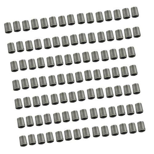 MagiDeal 100 Pcs Coprivalvola Pneumatici Standard TPMS In Nylon O Ring Interno Grigio Per Automobilo Camion Autocarri Moto