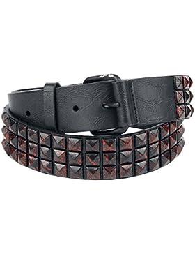 Cinturón con tachuelas Cinturón Rojo