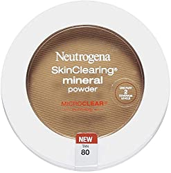 2 Pack - Neutrogena Skin Clearing Mineral Powder, Tan [80] 0.34 oz