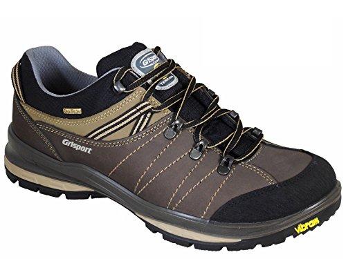 Grisport Rogue Mens Waterproof Walking Shoes with Vibram Sole Brown UK11/EU45