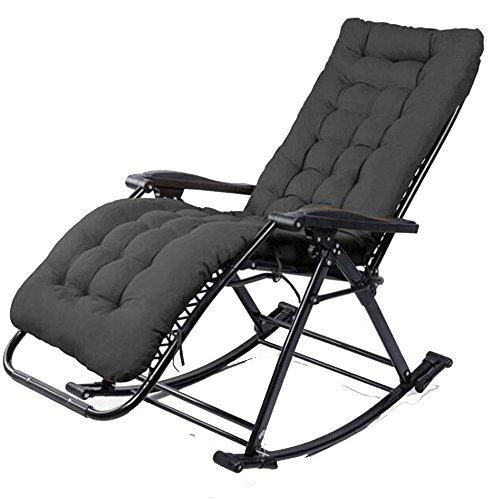 LLRDIAN Schaukelstuhl, Mittagspause, Sessel, Couch, Arbeitszimmer, Innenhof, Stuhl, Sessel, älterer Stuhl Einfacher Klappstuhl (Farbe : Schwarz)