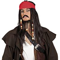 Pirate's Wig with Bandanna Moustache and Goatee (peluca)