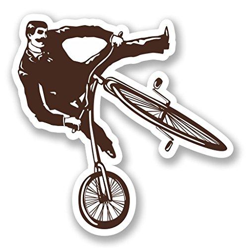 2x Stunt Bike Rider BMX Vinyl Aufkleber Aufkleber Laptop Reise Gepäck Auto Cool Schild Fun # 5432-10cm/100mm Wide