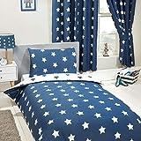 PriceRightHome - Juego de Funda de edredón y Funda de Almohada, diseño de Estrellas Azules y Blancas