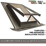 Lucarne / Fenêtre de toit - ligne BASIC VASISTAS (Puits de lumière - Fenêtre de sortie) Raccord inclus / Ouverture genre Velux (45x55 Largeur x Hauteur)