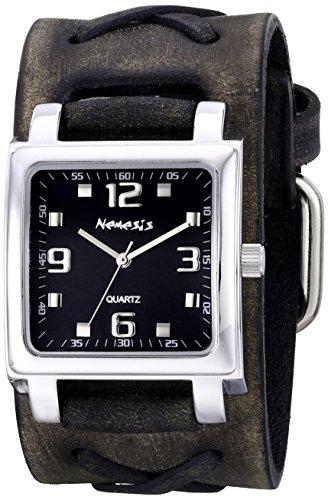 Nemesis 516FXB-K - Reloj de pulsera unisex, piel, color Gris