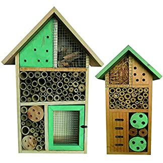 Heritage Fix On Natural Bamboo Wooden Green Insect Hotel Nest Home Bee Keeping Habitat Gardens Bug Bees Garden Butterflies Ladybird Ladybug Box Hotel Heritage Fix On Insect Wooden Green Hotel Nest Home Bee Keeping Bug Garden Ladybird Box Hotel (2 x Small Insect) 51Mvcmt7bVL