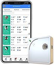 Ubibot WS1 wifi temperatuur vochtigheid monitor, draadloze thermometer hygrometer, wifi data logger met gratis