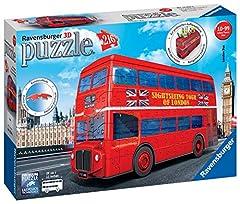 Idea Regalo - Ravensburger London Bus 3D Puzzle, Multicolore, 12534