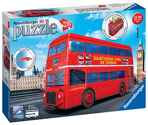 Ravensburger London Bus 3D Puzzle, Multicolore, 12534