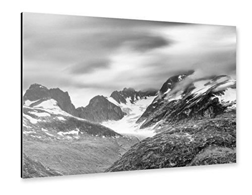 artboxONE Alu-Print 120x80 cm Norwegische Gipfel von Künstler Thomas Kleinert