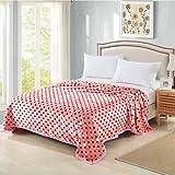 SUNNY KEY--Mantas para cama @ Súper Suave Geométrico Algodón Compuesto mantas , blushing pink