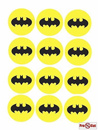 Batman-Logo-Kuchendekoration aus Ess-Papier, 40 Stück (Batman Kuchen Topper)