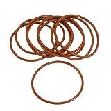 10x 65mm Außen Dia 3mm dick Flexible Silikon O Ring Seal Brick Rot