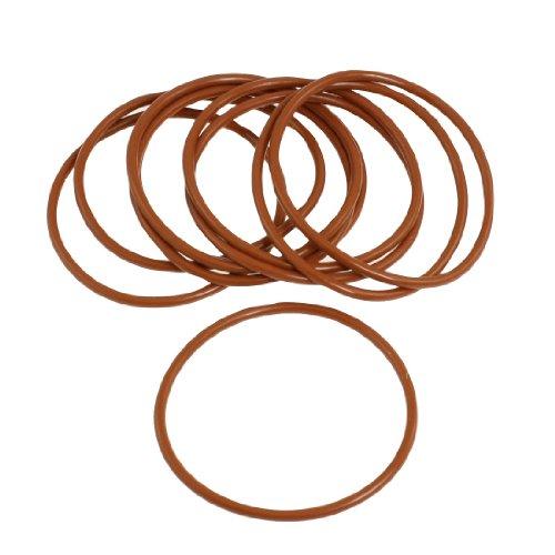 10x 65mm Außen Dia 3mm dick Flexible Silikon O Ring Seal Brick Rot -
