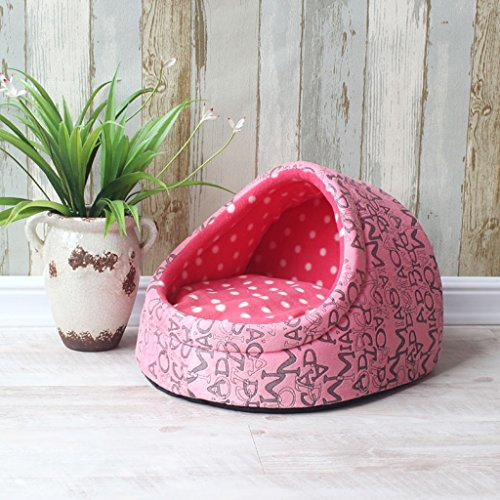 Cuccia confortevole animale domestico casa calda Pet Nest Kayou Cat Nest Bambola Bed estate e l'autunno sono comuni ( colore : Rosa , dimensioni : S. )