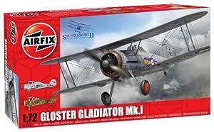 Airfix - Gloster Gladiator, Juguete de aeromodelismo (Hornby A02052)