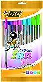 BiC Cristal Fun Kugelschreiber, verschiedene Farben, 10Stück