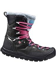 Salewa Snowcap Waterproof-Halbhoher Winterstiefel Damen, Zapatos de High Rise Senderismo para Mujer, Negro (Black/Pagoda 0967), 35 EU