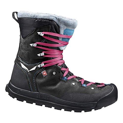 Salewa SNOWCAP WATERPROOF - HALBHOHER WINTERSTIEFEL DAMEN, Damen Trekking- & Wanderstiefel, Schwarz (Black/Pagoda 0967), 42 EU (8 Damen UK)