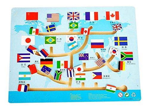 Kinder-Holz-Spielzeug Preschool Matze Brettspiel -Familien-Spiel - Fahnen