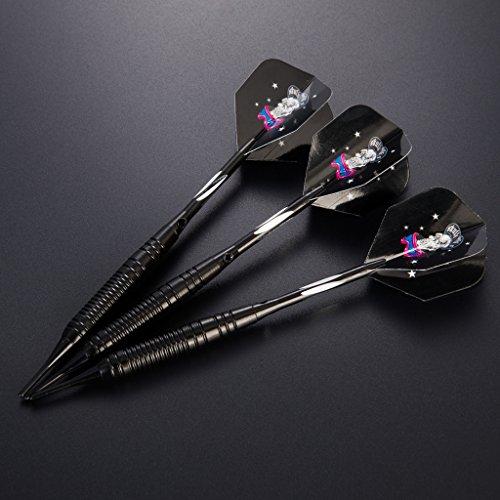Dartpfeile soft dartpfeile 3 Stück 18 g Dartset Turnier soft Tip Dartpfeile Set, (Soft Dartpfeile) mit Flights (schwarz)