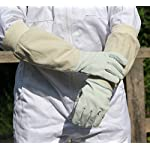 Beekeepers Bee Keeping Gloves - Soft White Goats Leather with Cotton Gauntlets (XL) 2