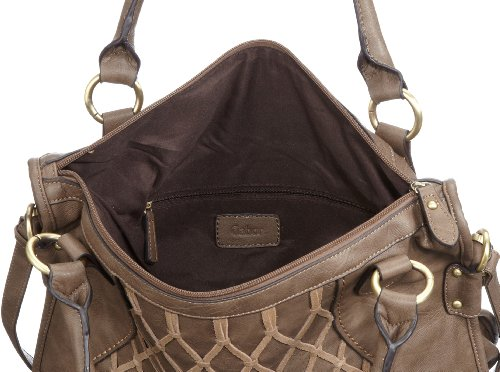 Gabor EVITA Handtasche, taupe 6559 21, Damen Shopper 41x36x14 cm (B x H x T) Grau (taupe 21)