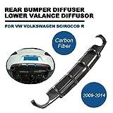 Kohlefaser Hintere Stoßstange Diffusor für Scirocco R 2009-2014 TGFOF Bumper Lip
