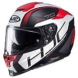 HJC Motorradhelm RPHA 70 Vias MC1SF, Schwarz/Weiß/Rot, Größe XL