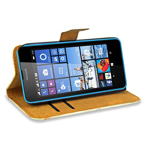 Microsoft Lumia 640 Dual SIM Handy Schützhülle Leder - 3