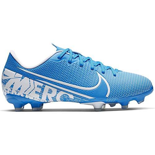 Nike Unisex-Kinder Vapor 13 Academy Fg/Mg Fußballschuhe, Mehrfarbig (Blue Hero/White/Obsidian 414), 36 EU