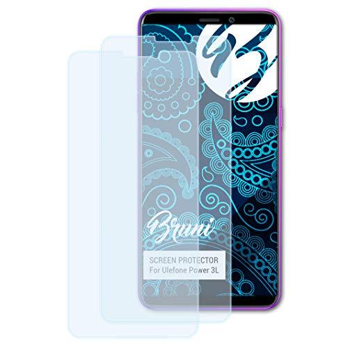 Bruni Schutzfolie für Ulefone Power 3L Folie, glasklare Bildschirmschutzfolie (2X)