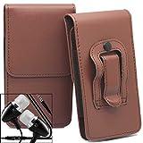 Braun / Brown Acer Liquid M320 Gürteltasche Handy Holster