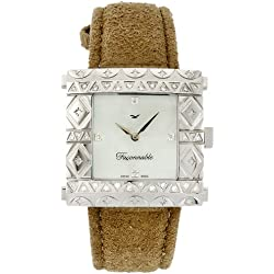 Faconnable - fgzs1 - Ladies Watch - Quartz Analogue - Bracelet leather beige
