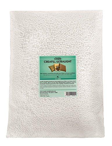 Creato Creafill Ultralight 5 L Granulat Füllmaterial, Styropor, Weiß, 40 x 30 x 8 cm,