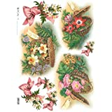 Accademia del Decoupage 32 x 45 cm de papel de arroz para, cestas de flores