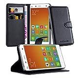 Cadorabo Funda Libro para Xiaomi Mi 4 en Negro Fantasma - Cubierta Proteccíon con Cierre Magnético, Tarjetero y Función de Suporte - Etui Case Cover Carcasa