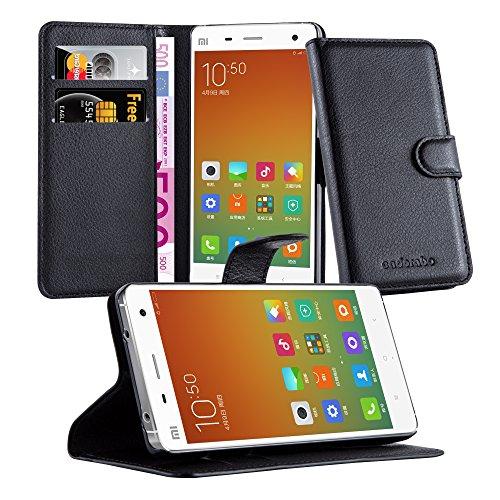 Preisvergleich Produktbild Cadorabo Hülle für Xiaomi Mi 4 Hülle in Phantom schwarz Handyhülle mit Kartenfach und Standfunktion Case Cover Schutzhülle Etui Tasche Book Klapp Style Phantom-Schwarz