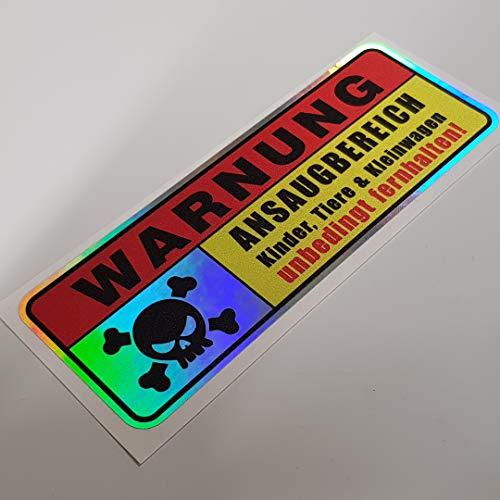 Warnung Ansaugbereich Hologramm Oilslick Rainbow Flip Flop Schwarz Aufkleber Metallic Effekt Shocker Hand Auto JDM Tuning OEM Dub Decal Stickerbomb Bombing Sticker Illest Dapper Fun Oldschool