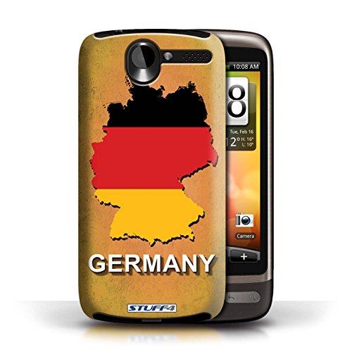 Kobalt® Imprimé Etui / Coque pour HTC Desire G7 / Argentine conception / Série Drapeau Pays Allemagne/Allemand